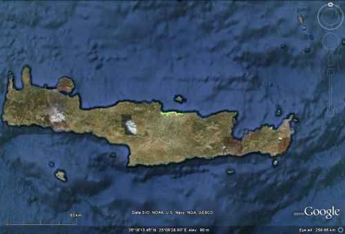 Minoan Crete Tsunami Inundation Map 7